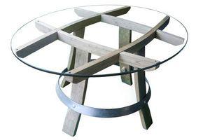 MEUBLES EN MERRAIN - carre devin - Table Basse Ovale