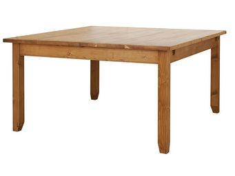 Interior's - table carrée à allonge - Table De Repas Carrée