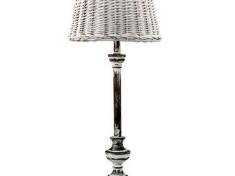 Interior's - lampe rotin - Lampe À Poser