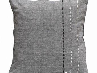 Interior's - housse de coussin grise - Housse De Coussin