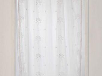 Coquecigrues - paire de rideaux bouquet blanc - Rideaux Pr�ts � Poser
