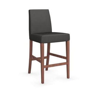 Calligaris - chaise de bar latina de calligaris gris foncé et n - Chaise Haute De Bar