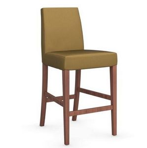 Calligaris - chaise de bar latina de calligaris jaune moutarde  - Chaise Haute De Bar