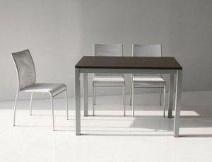WHITE LABEL - table repas extensible majestic 130 x 80 cm wenge  - Table De Repas Rectangulaire