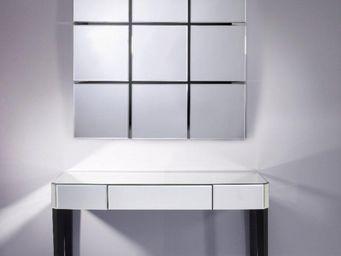 WHITE LABEL - sowhat ensemble console et miroir mural en verre - Console