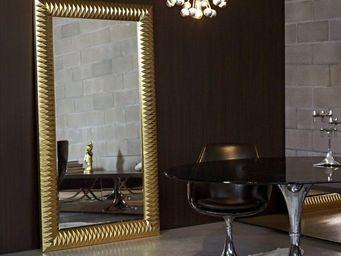 WHITE LABEL - hall grand miroir mural finition or - Miroir