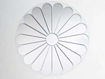 WHITE LABEL - marguerite miroir mural design en verre - Miroir