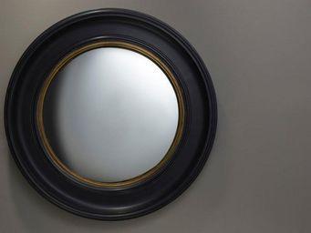 WHITE LABEL - ufo miroir mural en verre gm - Miroir Hublot