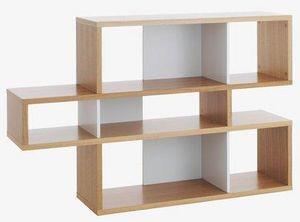 TemaHome - temahome london bibliotheque design chêne compart - Bibliothèque