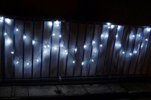 FEERIE SOLAIRE - guirlande solaire etoiles blanches 50 leds 9,3m - Guirlande Lumineuse