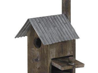 Aubry-Gaspard - nichoir oiseau bois et zinc - Maison D'oiseau