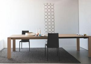 Calligaris - table repas extensible sigma xl 180x100 en bois na - Table De Repas Rectangulaire