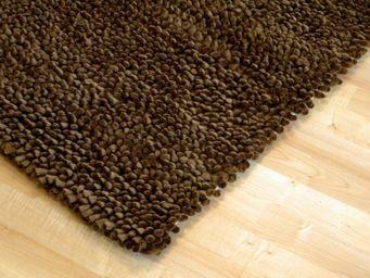 WHITE LABEL - venice tapis épais marron - Tapis Contemporain