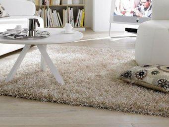 WHITE LABEL - feeling tapis épais crème 140x200 cm - Tapis Contemporain