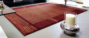 WHITE LABEL - samoa design tapis patchwork bordeaux et orange -  - Tapis Contemporain