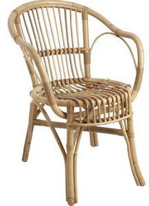 Aubry-Gaspard - fauteuil en manau arc - Fauteuil De Jardin