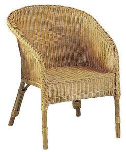 Aubry-Gaspard - fauteuil moelle de rotin - Fauteuil De Jardin