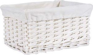 Aubry-Gaspard - corbeille de rangement osier blanc - Panier De Rangement