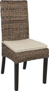 Aubry-Gaspard - chaise en bananier et acajou teint� - Chaise