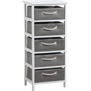 AUBRY GASPARD - meuble avec panier de rangement corneille - Colonne De Rangement