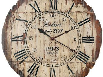 Interior's - horloge bois paris pliable - Horloge Murale