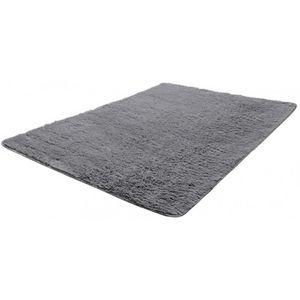 WHITE LABEL - tapis salon gris poil long taille xl - Tapis Contemporain