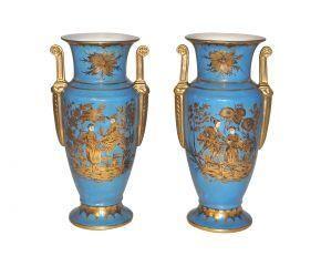 Demeure et Jardin - vases turquoise style empire - Vase Décoratif