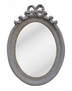 Demeure et Jardin - miroir gris style louis xvi - Miroir