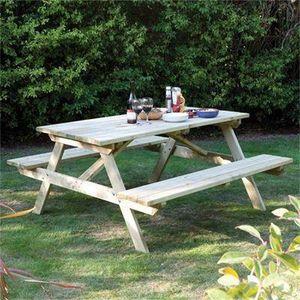ROWLINSON - 5ft picnic bench - Table Pique Nique