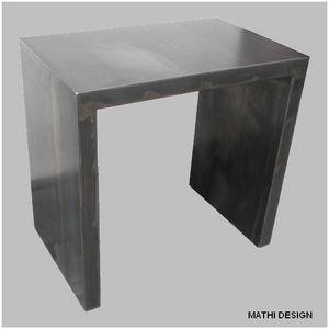 Mathi Design - petit bureau acier brut patine - Bureau