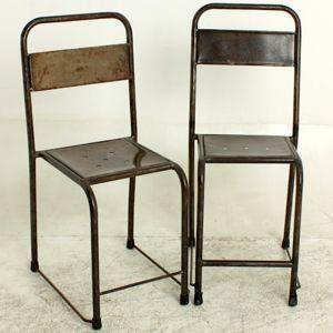 Mathi Design - chaise en metal vintage - Chaise