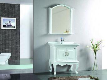 UsiRama.com - meuble salle de bain bois massif marriage 81cm - Meuble Vasque