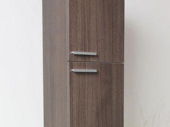 UsiRama.com - colonne suspendue design 70cm en couleur bois ray� - Meuble De Salle De Bains