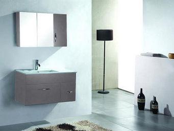 UsiRama.com - meuble salle de bain design night 90cm gris foncé - Meuble Vasque