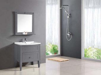 UsiRama.com - ensemble meuble salle de bain design charme 80cm - Meuble Vasque