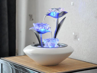 ZEN LIGHT - fontaine d'int�rieur irida avec �clairage - Fontaine D'int�rieur