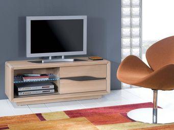 Ateliers De Langres - ceram - petit meuble tv 1 porte - Meuble Tv Hi Fi