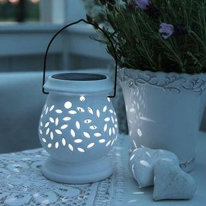 Best Season - clay lantern - lanterne solaire extérieur blanc le - Lanterne D'extérieur