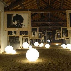 SLIDE - globo in - lampe à poser blanc ø30cm   lampe à pos - Lampe À Poser