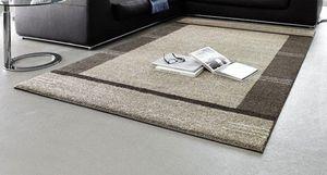 WHITE LABEL - samoa design tapis patchwork taupe 160x230 cm - Tapis Contemporain
