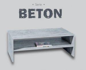 WHITE LABEL - table basse aspect béton - Table Basse Rectangulaire