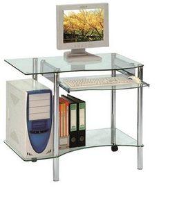 WHITE LABEL - desktop bureau pour ordinateur en verre - Bureau
