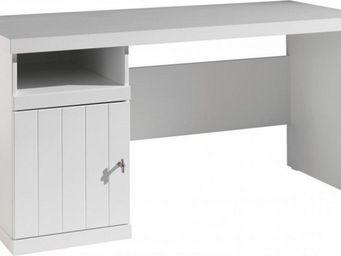 WHITE LABEL - bureau robin design laque blanc - Bureau