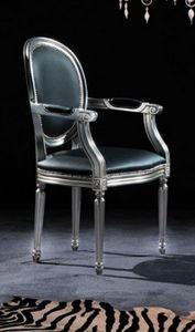 WHITE LABEL - chaise medaillon cleopatra en simili cuir noir et  - Chaise