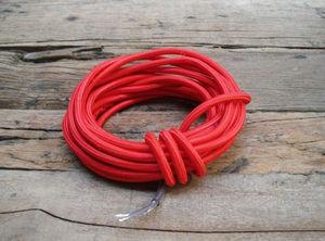 COMPAGNIE DES AMPOULES A FILAMENT - cable textile rouge - Cable Électrique