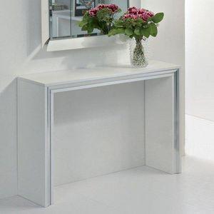 WHITE LABEL - console design archimede blanche - Console