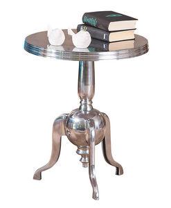 WHITE LABEL - petit table d?appoint rond en métal design moderne - Table D'appoint