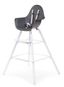 WHITE LABEL - chaise évolutive 2 en 1 pour bébé coloris anthraci - Chaise Haute Enfant