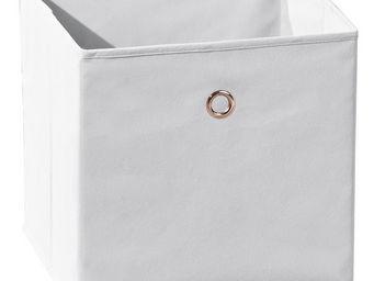 WHITE LABEL - boite de rangement carré coloris gris design mikad - Caisse De Rangement