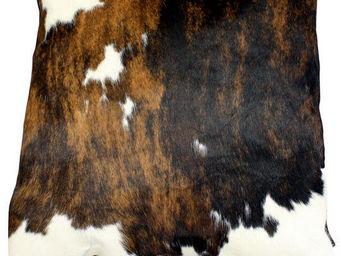 Tergus - coussin peau de vache normande - Coussin Carré